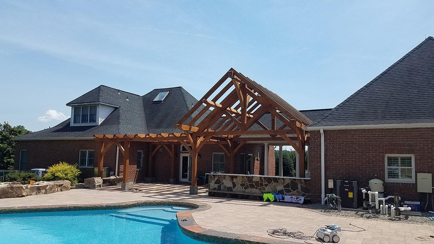 Luxury pool design in Carrol County, MD