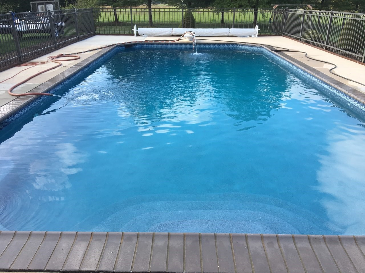 Custom in ground pool in Maryland